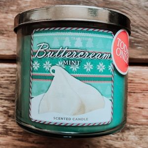 Bath & Body Works Buttercream Mint 3-Wick Candle